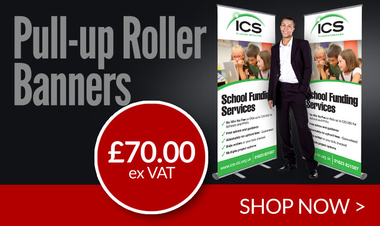 budget roller banners printed and delivered