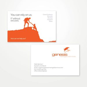 printed business cards example