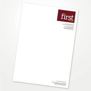 A4 printed colour letterhead