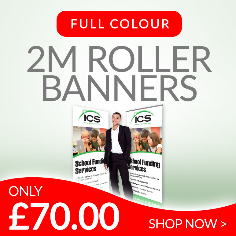 vinyl pull up roller banners