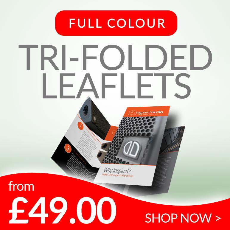 tri folded leaflets